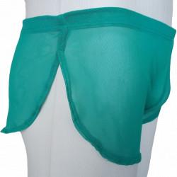 Cueca Ultra Fina com Abertura Lateral em Tule Verde Transparente Cuecas SexLord Underwear