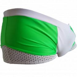 Sunga Bicolor Verde com branco Transparência Lateral Inferior Sungas Sexy SexLord