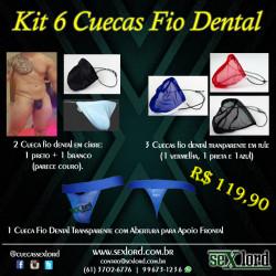 Kit 6 Cuecas Fio Dental Cuecas Sexlord Underwear