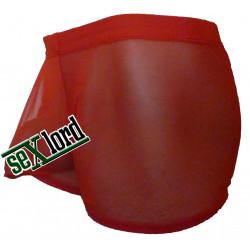 Cueca Boxer Transparente com Bojo de Sustentação Frontal em Tule Respirável Vermelho Cuecas SexLord Underwear