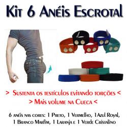 Kit 6 Anéis Escrotal com 3 Medidas de Ajuste Cuecas SexLord Underwear