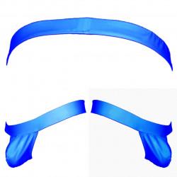 Cueca Jock Suporte Atlético Sem Alça de Sustentação Atrás em Tecido Cirre Azul Royal Respirável Cuecas SexLord Underwear