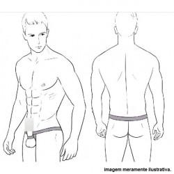 Cueca Cockring Anel Escrotal e Suporte para o Pênis Cuecas SexLord Underwear - Laranja