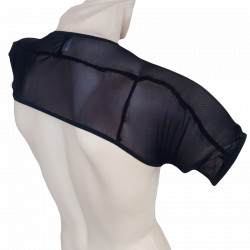 Fishnet top men ombro regata sexy colete masculino tule transparente Preto musculação gay Cuecas SexLord Underwear